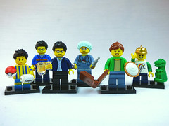 Brick Yourself Custom Lego Figure Clone Father with Happy Family