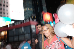 twenty-one (spanaut) Tags: street newyork unitedstates us streetphotography candid urban girl woman birthday 21 twentyone timessquare citylife celebration flash night