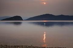 Summer of Smoke 2015 (John Andersen (JPAndersen images)) Tags: bc canada lake shuswap smoke sunrise
