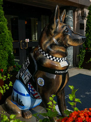 K9s for Cops Public Art Campaign - ? by Lorna Lightle (Stuart Fujiyama) Tags: illinois chicago south loop michigan avenue k9s cops dog statue american heritage protective services lorna lightle
