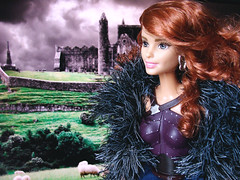 Celtic Queen Medb (FreeRangeBarbie) Tags: barbie antiope redhead fashionista hybrid queen portrait warrior