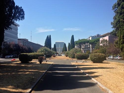 View looking north-west down Viale della Civiltà Romana, EUR, Rome