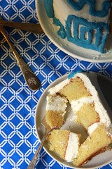 Greek Isles Cake (Layer Cake Parade) Tags: greekisles greekisland oliveoil oliveoilcake layercake dessert sweets foodstyling foodphotography lemon cake lemoncake blue