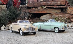 Chevrolet: 1941 Special DeLuxe Convertible & 1950 Styleline DeLuxe Convertible (JCarnutz) Tags: 124scale diecast danburymint franklinmint 1941 1950 chevrolet deluxe