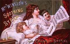 "Mrs. Winslow's Soothing Syrup for children teething (National Library of Medicine - History of Medicine) Tags: ""thenationallibraryofmedicine"" ""stillimage"" ""nonprescriptiondrugs"" chromolithograph ""mrswinslowssoothingsyrup"" ""teethingchildren"" morphine ""motherinbed"" ""newspaperadvertisement"" imagesfromthehistoryofmedicine ihm freeonlineresource visualmedia fineart photographs engravings posters ""socialandhistoricalaspectsofmedicine"" ""digitalcollections"""" ""biomedicalresources ""books videos maps"