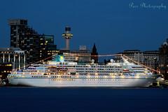 Cruise ship Amadea (Phoenix Reisen) (ParrPhotography) Tags: amadea liverpool mersey night blue river liver cruise merseyside ships