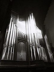 Holy Pipes (PhotoJester40) Tags: indoors inside pipes brasspipes organpipes blackandwhite bw blackwhite churchpipes amdphotographer
