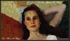 Ritratto di Clara (agostinodascoli) Tags: clara marcodimaggio agostinodascoli impressionismo texture donna modella ritratto photoshop photopainting art digitalart digitapainting colore fullcolor