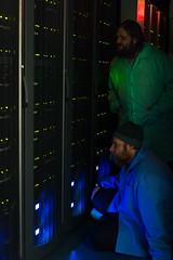IceCube Server Administrators (redfurwolf) Tags: southpole antarctica icecubelab icecube server serverroom person people indoor icl computer admin administrator redfurwolf dark sonyalpha sony a7r sel55f18z