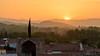 Coucher de soleil sur Thuir (Léo Bariller - Photographie) Tags: sunset languedocroussillon roussilon france thuir byrrh orange light sun montagnes mount trees town village lanscape paysage color aout august été summer