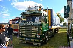 Scania 143 470 Streamline 1991 H.E. Payne International (Trucks and nature) Tags: scania 143 470 he payne international wyboston bedford england centurion transport spedition big rig semi truck lorry lkw show trailer super intercooler stacks 1991
