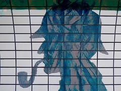 Baker Street (Steve Taylor (Photography)) Tags: gerryrafferty bakerstreet tubeunderground sherlockholmes deerstalker hat pipe 221b art design logo digital blue black white man uk gb england greatbritain unitedkingdom london shape silhouette pattern