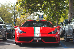 Italian Flag (Beyond Speed) Tags: ferrari 458 speciale supercar supercars car cars carspotting nikon v8 red stripes maranello italy italia ferrari70 automotive automobili auto