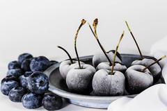 Frozen cherry (Hanna Tor) Tags: food macro closeup table kitchen cherry frozen hannator art ice white berry delicious sweet