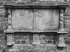 27vii2017 Stokesay 39 (garethedwards36) Tags: church chapel building architecture stokesay shropshire uk lumixmonochrome blackandwhite memorial gravestone