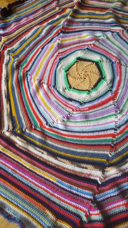 Scrap hexagon blanket for Oliver