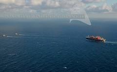 ALP CENTRE and ALP GUARD towing ARMADA KRAKEN off Pantelleria - 25.12.2016 - www.maltashipphotos.com (Malta Ship Photos & Action Photos) Tags: sea ship offshore towage aerial dutch tug alp maritime services ltd fpso armada kraken norwegian