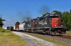 Eastbound Manifest in Independence, MO (Grant Goertzen) Tags: sp southern pacific railroad railway missouri north northern arkansas emd power locomotive train trains manifest freight east eastbound local