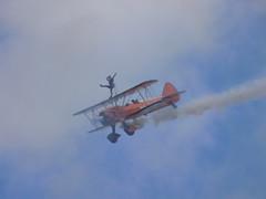 Breitling Wing Walkers (Kylie Stevens) Tags: bigginhill20thaugust2017 avgeeks airshow airshows bigginhill aerobatics aerobaticdisplayteam displayteam breitling breitlingteam breitlingwingwalkers wingwalkers biplane stearmen