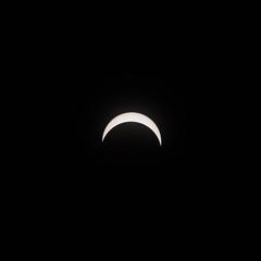 80% Eclipse, August 21, 2017 (mvos18) Tags: 70200f4l neutral eclipse rare bw moon canon lunar sun solar astral total sky filter nature blackandwhite density canon7dmkii