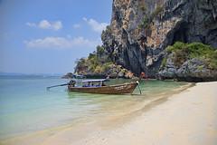 Shore Leave (ORIONSM) Tags: thailand krabi boat long shore leave karst beach landscape asia vacation holiday pentaxk3 sigma18250