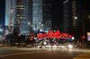 Traffic at Night (Petronas Towers) (Theo Crazzolara) Tags: petronas towers menara twin kuala lumpur skyscraper malaysia asia malaysien asien petronastowers night light nacht street urban cars verkehr traffic nightlife start headlights