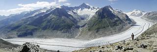 Aletsch glacier. Switzerland.