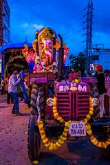 Ganpati goes back (Himanshu Joshi Bangalore) Tags: india ganpati ganesh chaturthi bangalore bengaluru colours travel festivals nikon d610 2485 nikkor