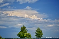 Mackinac Clouds (mswan777) Tags: sky cloud expanse tree landscape nature outdoor scenic mackinac island michigan travel blue nikon d5100 sigma 70300mm mission point pattern shape