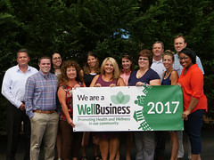 Our office won the WellBusiness Gold award for 2017!
