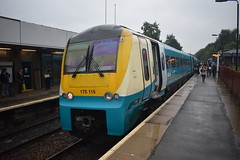 175 at Telford, 09/08/17. (MKT Transport Photography) Tags: train dmu atw alstom 2car diesel unit multiple shropshire uk railway rail
