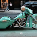 Cool Lime Green Motorcycle in SOHO
