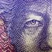 Macro of a 20 Krona note/bill