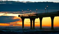 New Brighton Pier. Christchurch NZ (Bernard Spragg) Tags: newbrightonpier seascape pier jetty beach ocean seaside coast