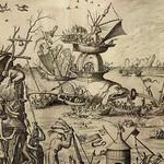 BOSCH Jérôme (d'Après Suiveur),1561 - La  Tentation de Saint Christophe, Estampe de Van Doetecum (Bruxelles) - Detail 31 thumbnail