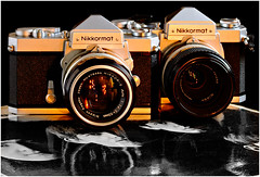 10D-77-200b (ac | photo) Tags: nikkormat beatles commercial product camera vintage studio tabletopphotography blackbackground reflection