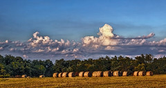IMG_4174-75Ptzl1TBbLGER (ultravivid imaging) Tags: ultravividimaging ultra vivid imaging ultravivid colorful canon canon5dmk2 clouds sunsetclouds scenic rural vista fields farm summer landscape lateafternoon pennsylvania pa sky panoramic balesofhay evening