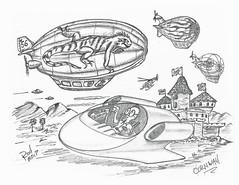 Cornwall (rod1691) Tags: bw scifi grey concept custom car retro space hotrod drawing pencil h2 hb original story fantasy funny tale automotive art illistration greyscale moonpies sketch