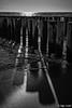 Shadow casting / Schattenwurf (Steffen Schobel) Tags: buhnen groynes bw blackwhite sw strand beach schwarzweis hdreffect gegenlicht backlight meer sea schatten shadow dishoek ngc