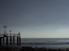 CALM (oroyplata.) Tags: calm xilxes valencia storm playa sea blue azul relax calma horizonte landscape explore pier embarcaderp pasarela salientepilares selfportrait photographer creative creacion edition edicion master monocromo surreal fine art conceptual concept fotografia young arena
