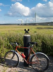 Mersey Gateway 13 aug 17 (Shaun the grime lover) Tags: mersey bicycle bridge river gateway cheshire runcorn widnes dawes 1down rad fiets velo