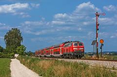 DB 218 400 (maurizio messa) Tags: br218 v160 rb27039 germania germany bahn bayern mau ferrovia treni trains railway railroad nikond7100