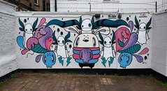 Me and Miss Wah at The Cheltenham Paint Festival 2017 (korp) Tags: korp korporate korpworm miss wah misswah wall cheltenhampaintfestival cheltenham streetart art 2pigs
