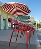 Couleurs et Rayures (Thethe35400) Tags: plage playa beach strand parasol umbrella sombrilla sonnenschirm parasole guardasol rayure couleur chaise silla stripes