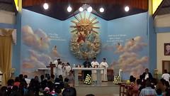 Misa del encuentro de jovenes de confirmacion en la parroquia de la Stma. Trinidad de Guayacan