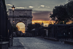 Roman forum in Rome (le cabri) Tags: rome romanforum night sunset sunporn ancientrome arch archofconstantine ancient antiquities architecture bluehour builtstructure street italy sky famousplace history italianculture oldruin outdoors socialhistory travel triumphalarch
