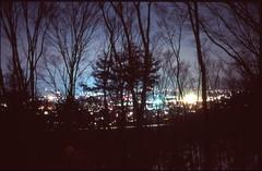 (✞bens▲n) Tags: pentax lx velvia 100 fa 35mm f2 film analogue slide slidefilm japan nagano nightscape trees longexposure dark