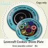 Bleat - Lovecraft Cookies: Doom Plate (Maudeline Kranfel) Tags: lovefest2017 lovecraftfestival2017 lovecraft hplovecraft cthulhu bleat