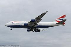 G-BNLP - 1990 build Boeing B747-436, on approach to Runway 27R at Heathrow (egcc) Tags: 24058 828 b744 b747 b747400 b747436 ba baw boeing britishairways canon egll gbnlp heathrow jumbojet lhr lightroom london