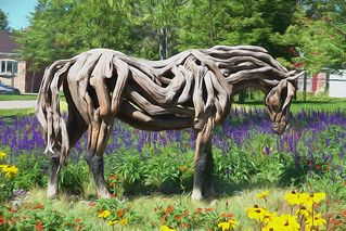 Driftwood Horse in Digital Painting